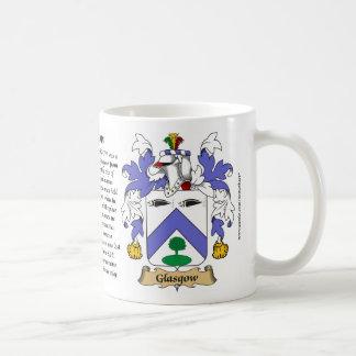 グラスゴー、起源、意味および頂上 コーヒーマグカップ