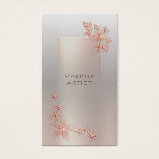 グラデーションでシックで明るいばら色の真珠の花のモダンな贅沢 名刺