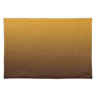 グラデーションなぴりっとする金ゴールドブラウン ランチョンマット