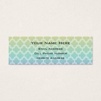 グラデーションなクローバーの細いプロフィールカード スキニー名刺