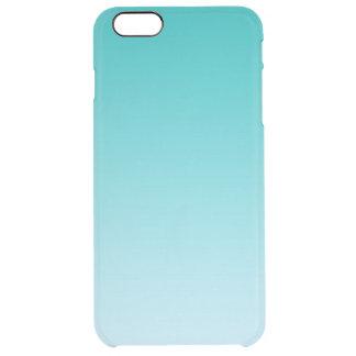 グラデーションなティール(緑がかった色) クリア iPhone 6 PLUSケース