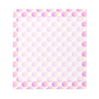 グラデーションなピンクのつや消しのバラの変更の背景色 ノートパッド