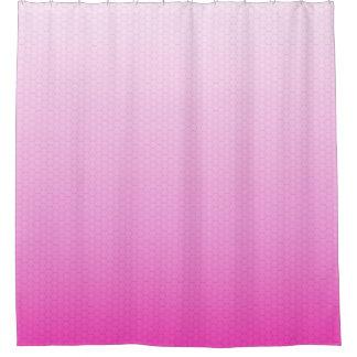 グラデーションなピンクのガーリーな勾配の六角形の格子 シャワーカーテン