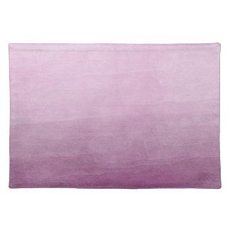 グラデーションなピンクの水彩画 ランチョンマット
