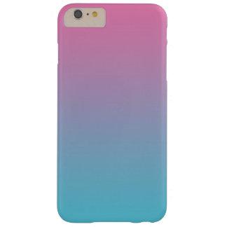 グラデーションなピンク及びターコイズ BARELY THERE iPhone 6 PLUS ケース