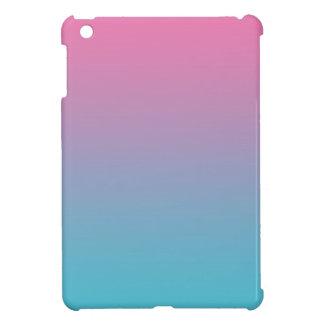 グラデーションなピンク及びターコイズ iPad MINI カバー