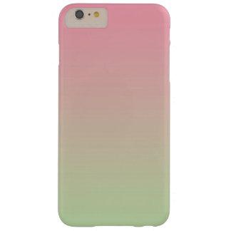 グラデーションなピンク及び緑 BARELY THERE iPhone 6 PLUS ケース