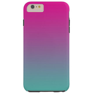 グラデーションなマゼンタの紫色及びティール(緑がかった色) TOUGH iPhone 6 PLUS ケース