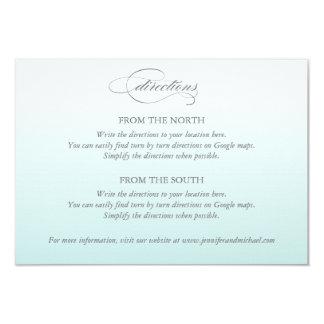 グラデーションなレースの結婚式の方向カード カード