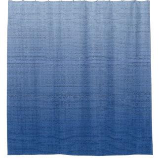 グラデーションな中型の質青い勾配は衰退します シャワーカーテン