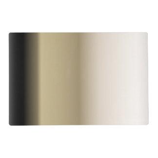 グラデーションな勾配を黒くするベージュ色の微妙な色合い ラミネート ランチョンマット