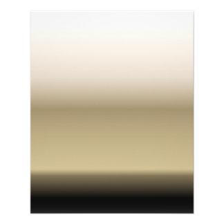 グラデーションな勾配を黒くするベージュ色の微妙な色合い 11.4CM X 14.2CM チラシ