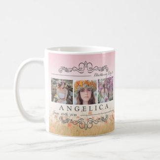 グラデーションな格子を結婚する花嫁のPhotoshoot Instagram コーヒーマグカップ