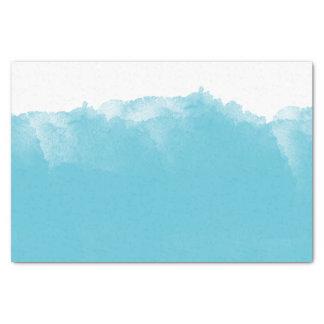 グラデーションな水の白い水彩画 薄葉紙