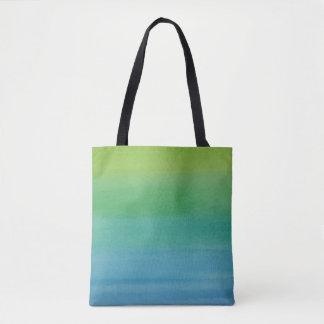 グラデーションな水彩画のプリントのトートの人魚色 トートバッグ