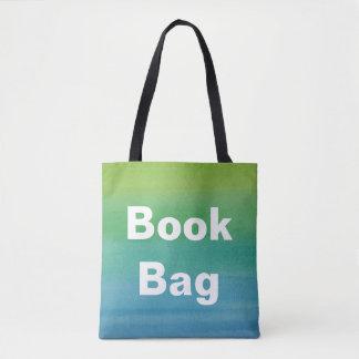グラデーションな水彩画のプリントのブックバッグの人魚色 トートバッグ
