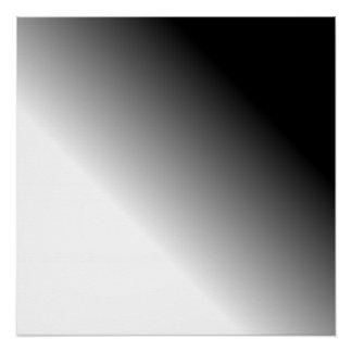 グラデーションな白黒 ポスター