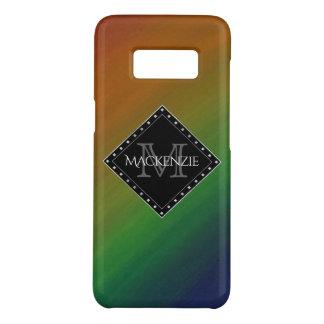 グラデーションな真ちゅう製のスタイリッシュなモノグラムのカラフルな虹 Case-Mate SAMSUNG GALAXY S8ケース