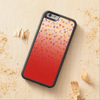グラデーションな紙吹雪 CarvedメープルiPhone 6バンパーケース
