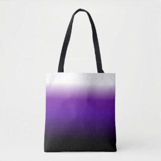 グラデーションな紫色の白黒 トートバッグ