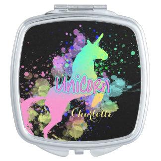 グラデーションな虹のファンタジーのユニコーン