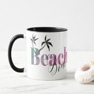 グラデーションな虹-ビーチの花嫁 マグカップ