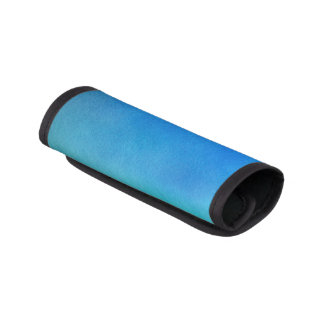 グラデーションな青い水彩画 ラゲッジ ハンドルラップ