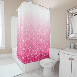 グラデーションな10代のなプレティーンの女の子のきらめくピンクのグリッター シャワーカーテン