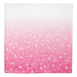 グラデーションな10代のなプレティーンの女の子のきらめくピンクのグリッター 掛け布団カバー