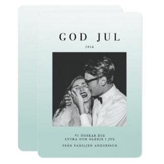グラデーションなFoto Julkort | Blå カード