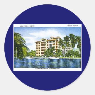 グラナダのホテル、マイアミフロリダ ラウンドシール