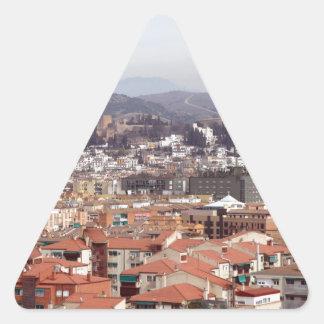 グラナダの建物スペイン 三角形シール