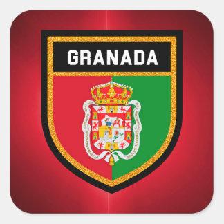 グラナダの旗 スクエアシール
