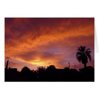 グラナダの日没 カード