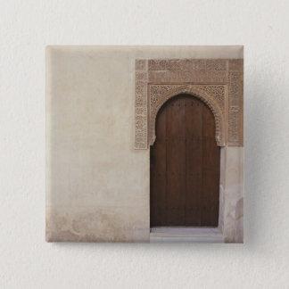 グラナダ、スペインのアルハンブラ宮殿の戸口 5.1CM 正方形バッジ