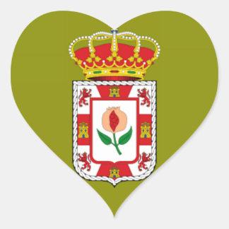 グラナダ(スペイン)の地方の旗 ハートシール