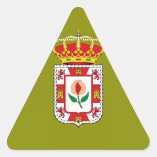 グラナダ(スペイン)の地方の旗 三角形シール