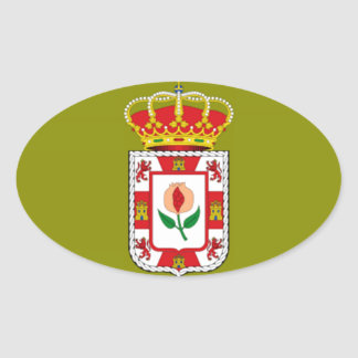 グラナダ(スペイン)の地方の旗 楕円形シール