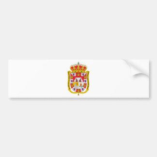グラナダ(スペイン)の紋章付き外衣 バンパーステッカー