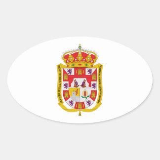 グラナダ(スペイン)の紋章付き外衣 楕円形シール
