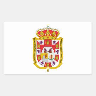 グラナダ(スペイン)の紋章付き外衣 長方形シール