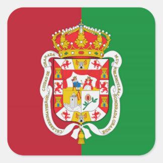 グラナダ(スペイン)都市旗 スクエアシール