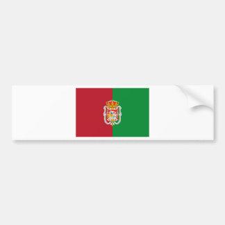 グラナダ(スペイン)都市旗 バンパーステッカー