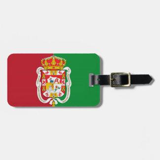 グラナダ(スペイン)都市旗 ラゲッジタグ