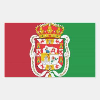 グラナダ(スペイン)都市旗 長方形シール
