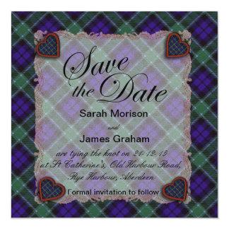 グラハムのスコットランドの一族のタータンチェック-格子縞 カード