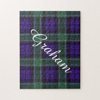 グラハムの一族の格子縞のスコットランド人のタータンチェック ジグソーパズル