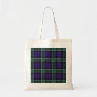 グラハムの一族の格子縞のスコットランド人のタータンチェック トートバッグ