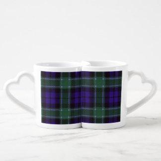 グラハムの一族の格子縞のスコットランド人のタータンチェック ペアカップ