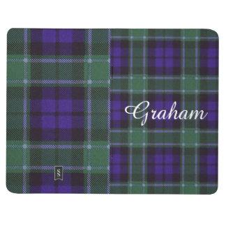 グラハムの一族の格子縞のスコットランド人のタータンチェック ポケットジャーナル